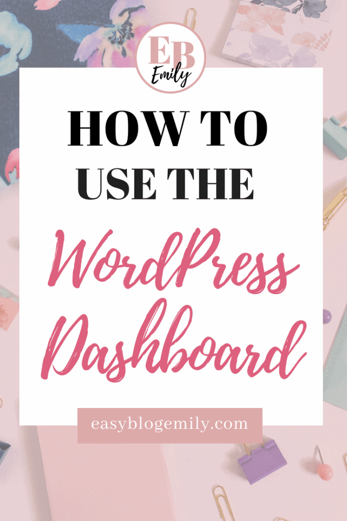 How to use the WordPress Dashboard. Click to read a tutorial for beginners on how to use the WordPress dashboard, or re-pin for inspo later.