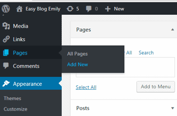 How to install and edit a free theme in WordPress. Pages, add new.
