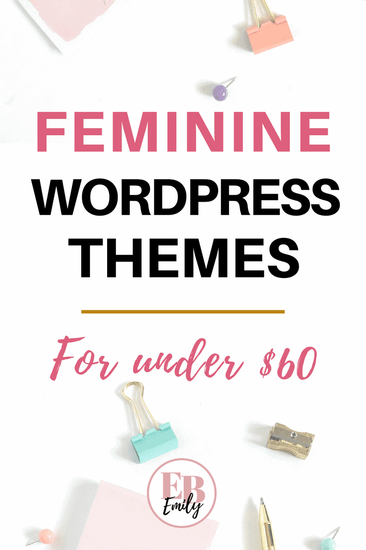 Feminine WordPress themes for under $60