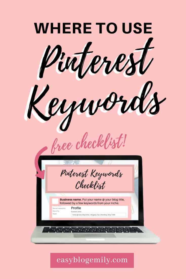 How to use keywords on Pinterest