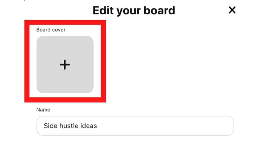 Pinterest board covers - Click Board Cover