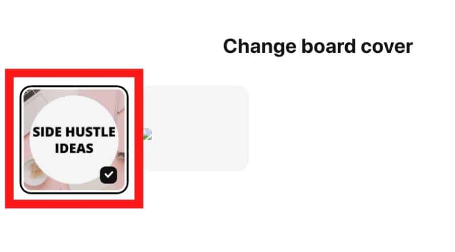 Pinterest board covers - Select your board cover