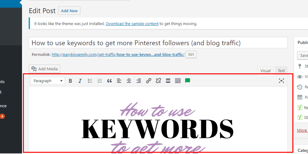 Where to put text