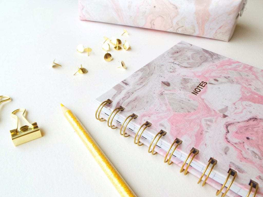 Marble and gold notebook 1