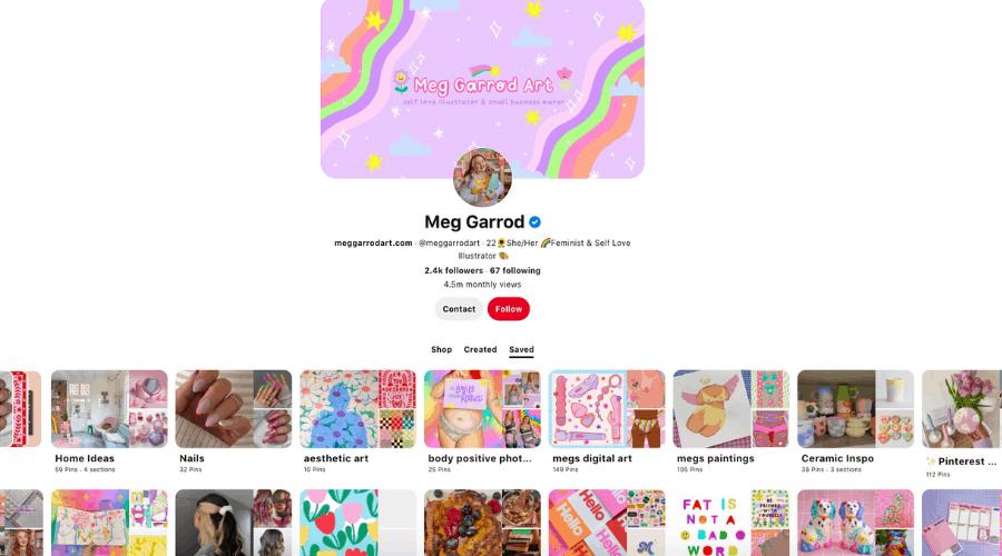 Aesthetic Pinterest account