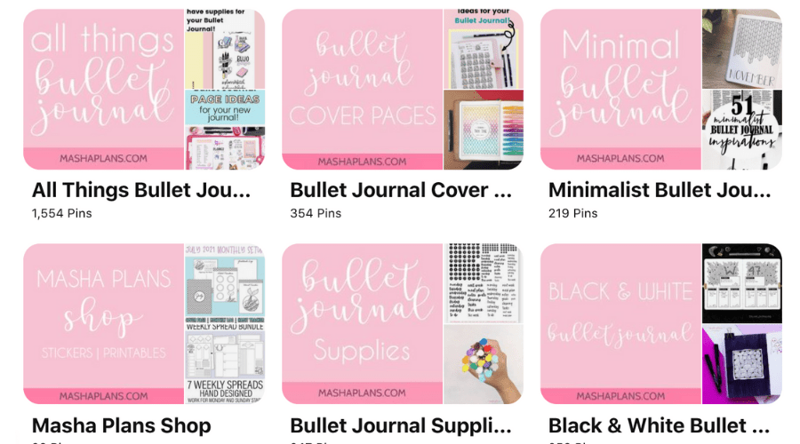 Aesthetic Pinterest board covers