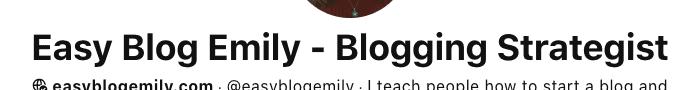 Pinterest display name