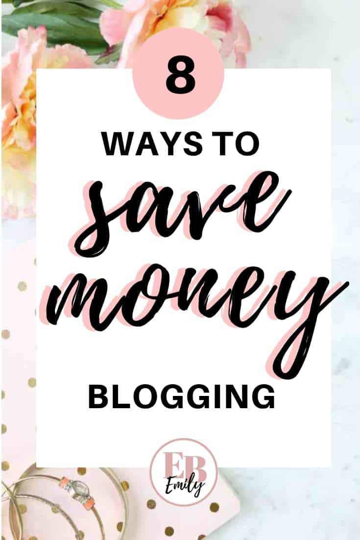 8 ways to save money blogging