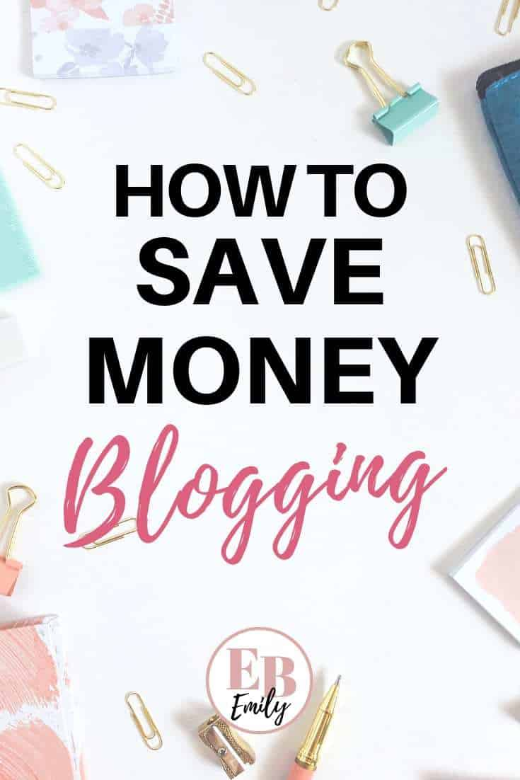 How to save money blogging