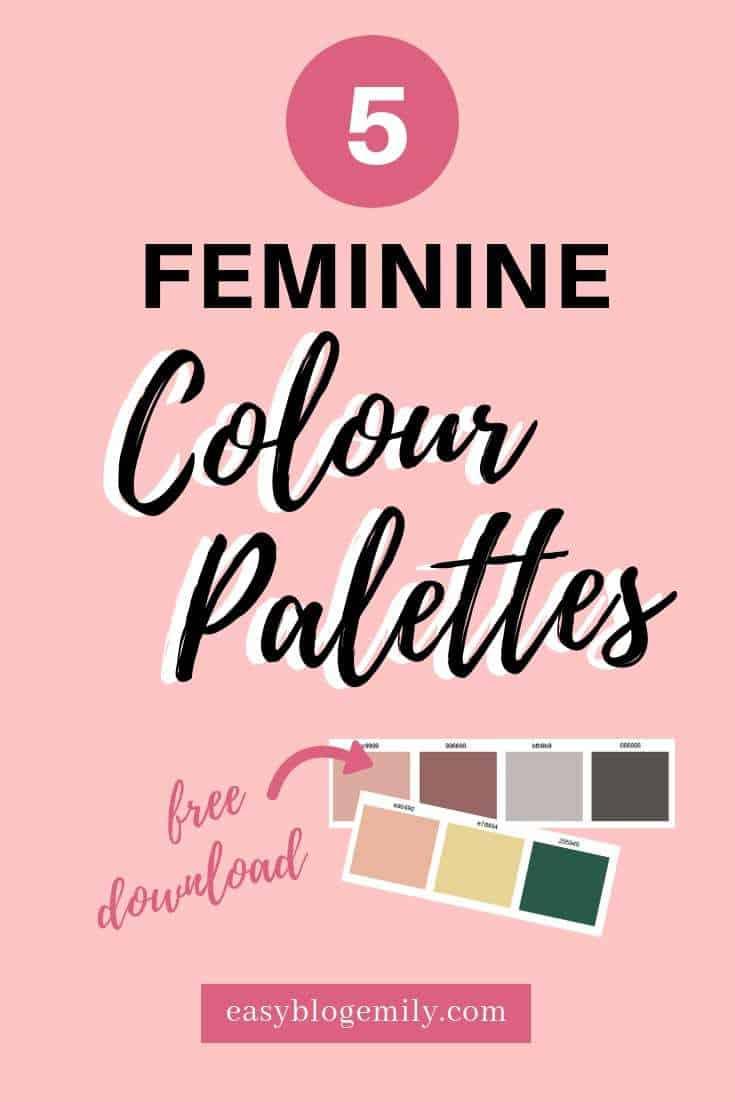 5 Feminine colour palettes