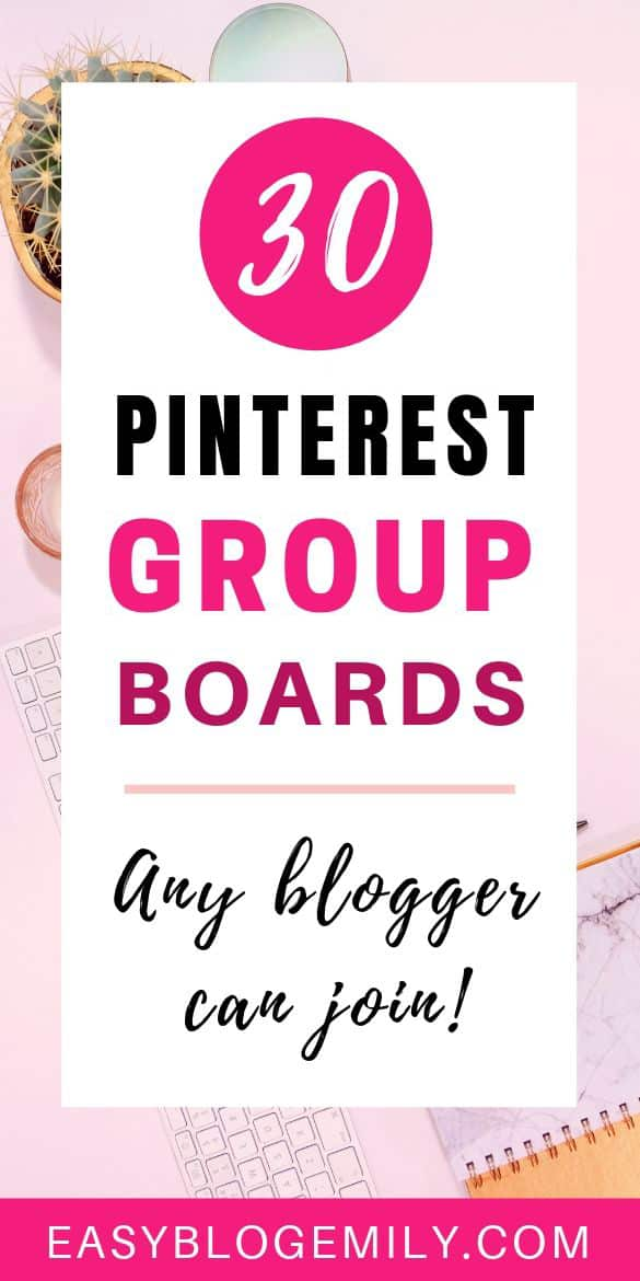 30 Pinterest group boards any blogger can join