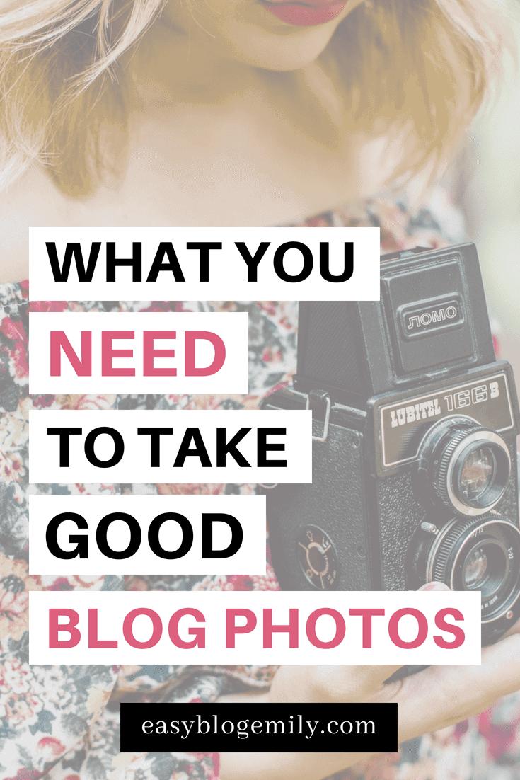 What you need to take good blog photos