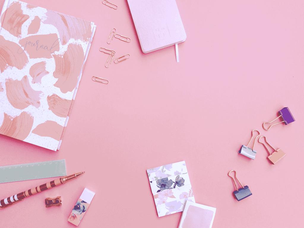 Pink stationary layout