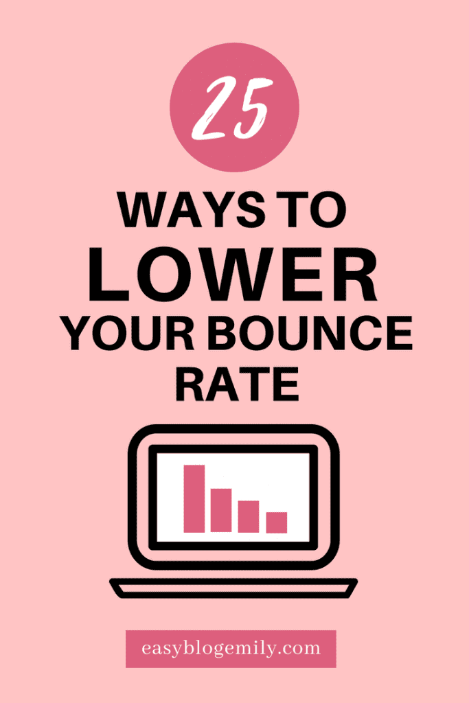 Need to lower your bounce rate? Then check out these 25 tips for lowering your bounce rate, or re-pin for inspo later.