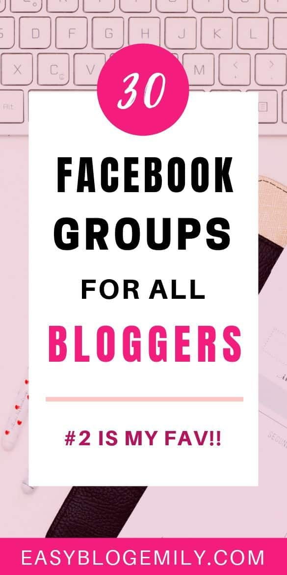 30 Facebook groups for all bloggers