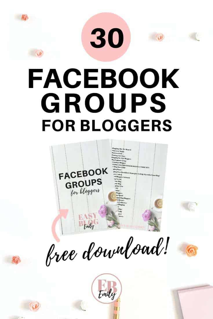 Want more blog traffic? Click to download this list of the best 30 Facebook groups for bloggers, to start getting blog traffic now, or repin for inspo later #socialmediatips #facebookgroups #bloggingforbeginners #bloggingtips