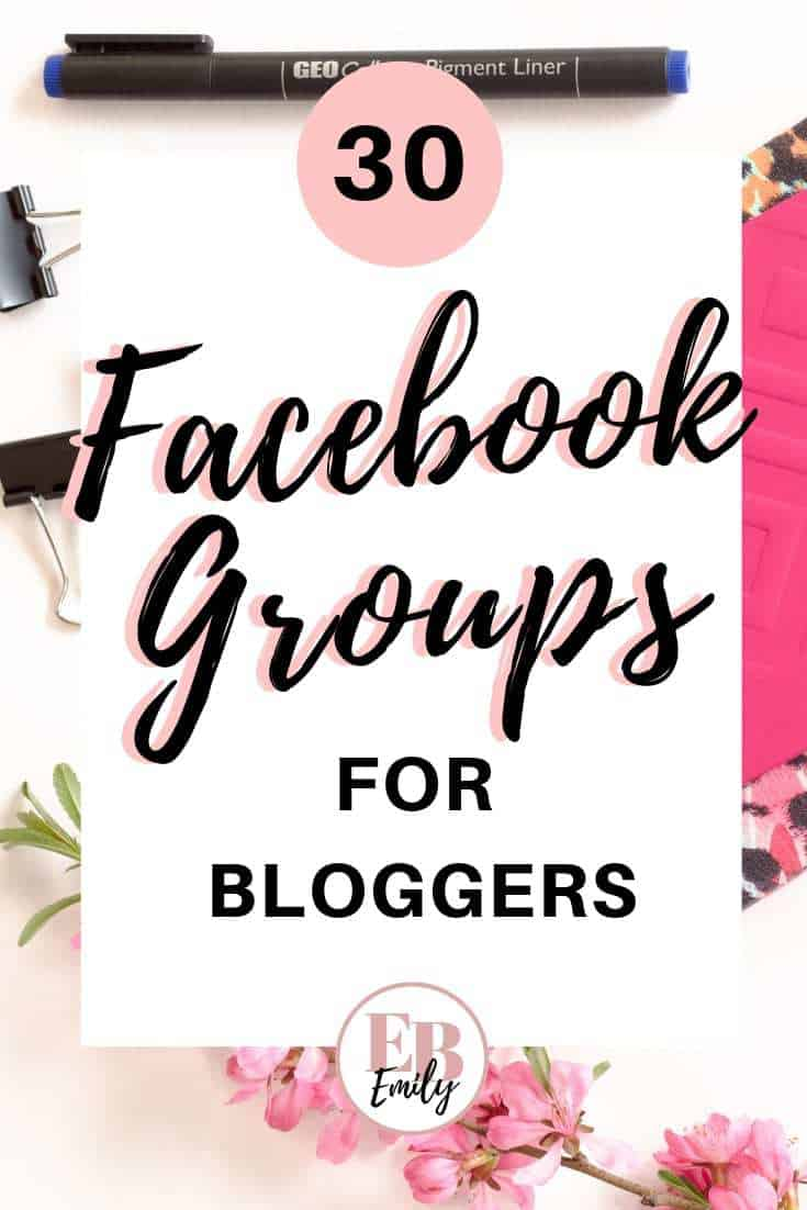 30 Facebook groups for bloggers