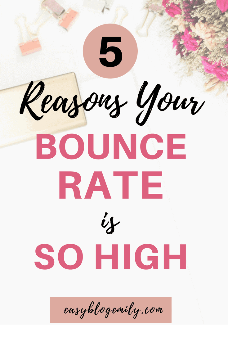 5 reasons your bounce rate is so high