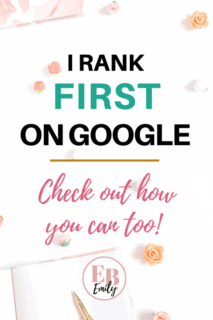 If you want to rank first on Google, be sure to check out this post full of tips how, or re-pin for inspo later! #SEO #Google #blogtips