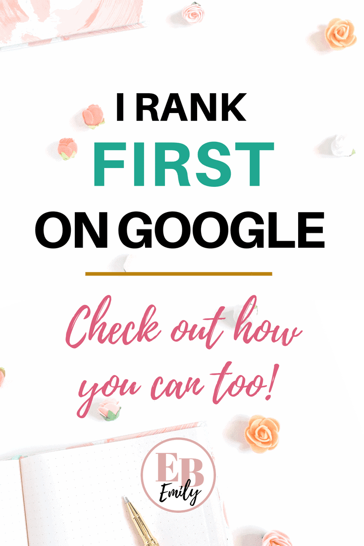 RANK FIRST ON GOOGLE NOW! Check out this post to learn SEO for beginners and how to rank first on Google, or repin for inspo later! #SEO #Google #blogtips #seoforbeginners
