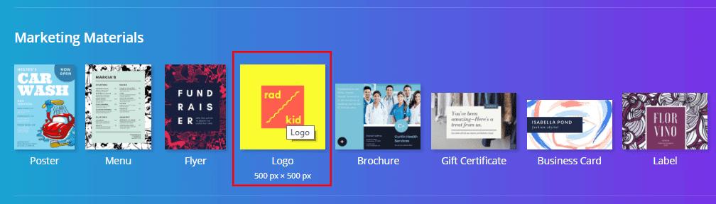Marketing materials, Logo