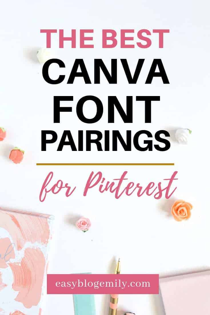 The best Canva font pairings for Pinterest