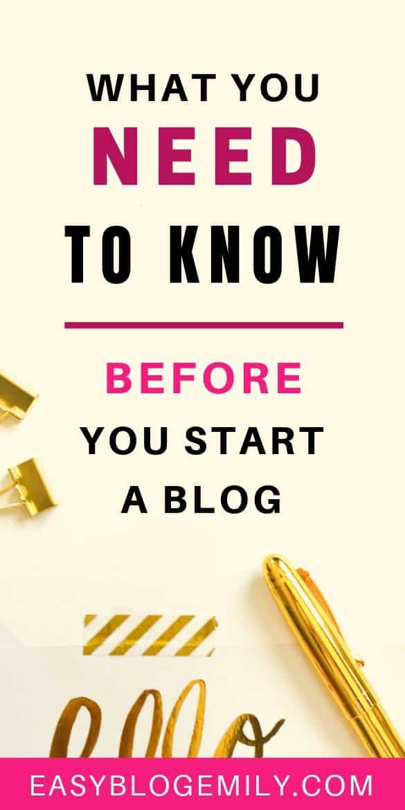 What you need to know before you start a blog