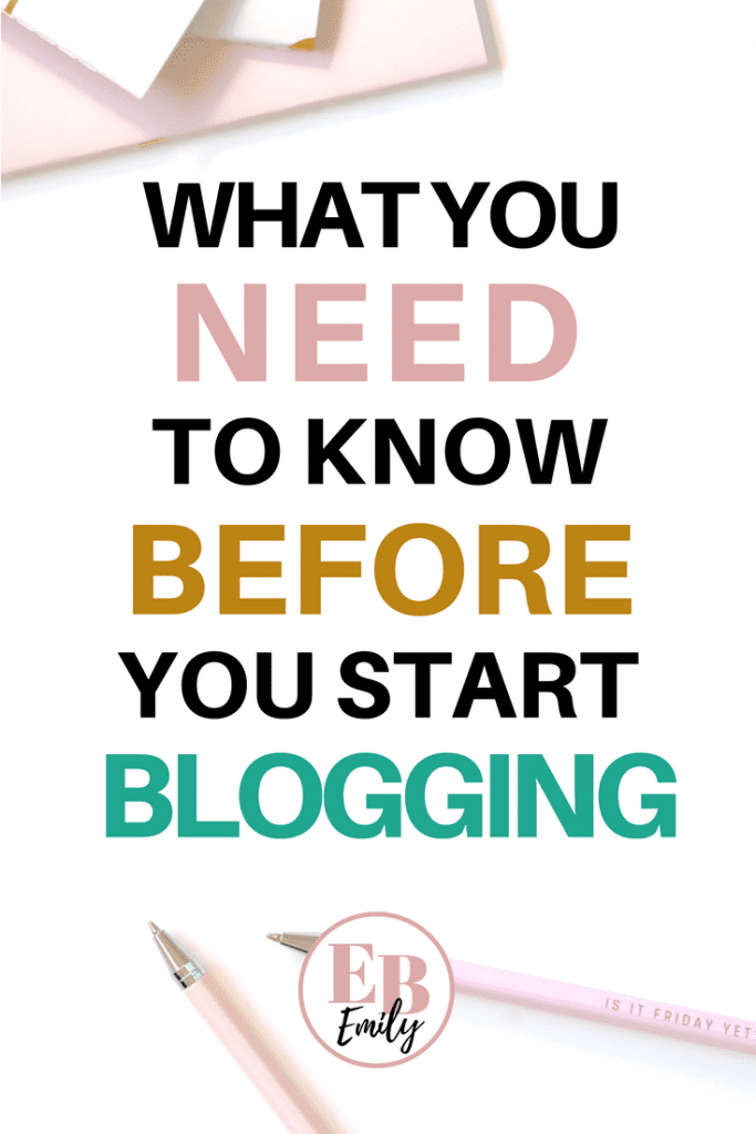 Thinking of starting a blog? Click to read what you need to know before you start blogging, or re-pin for inspo later.