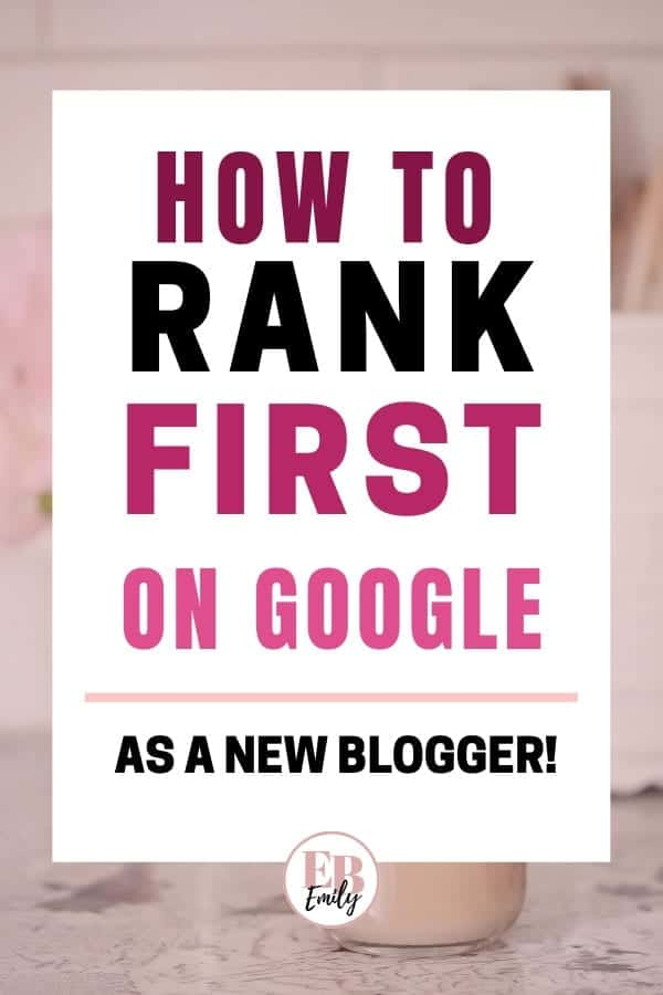 How to rank first on Google