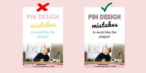 Pinterest design mistakes number 3