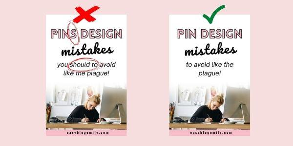 Pinterest design mistakes number 4