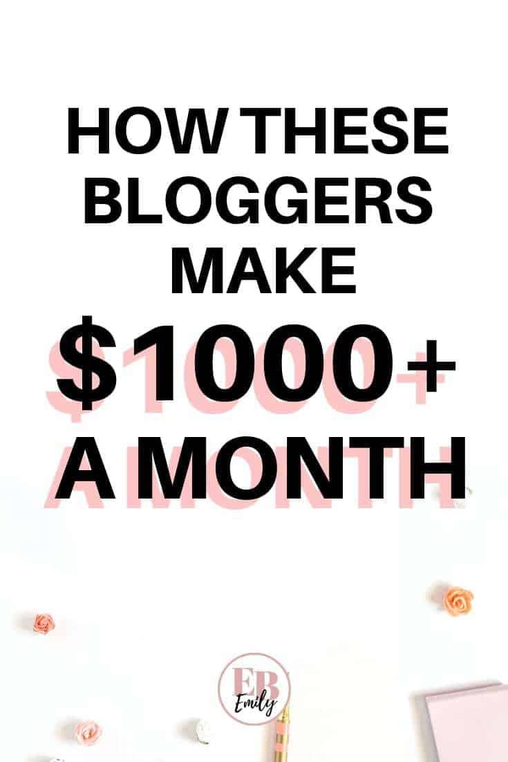 How these bloggers make $1000+ a month