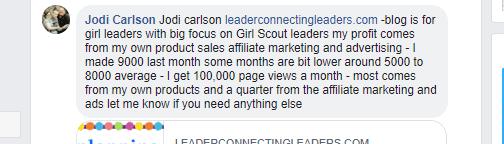 Jodi Carlson comment