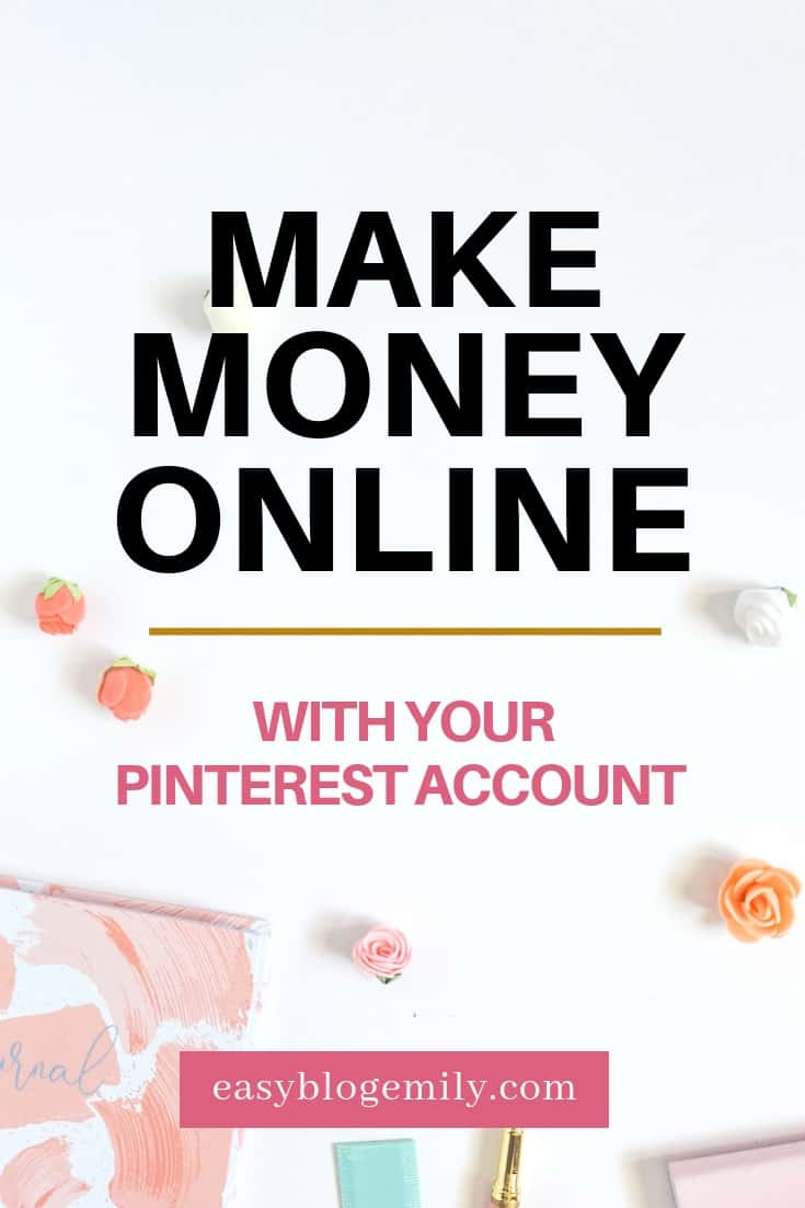 Make money online with your Pinterest account