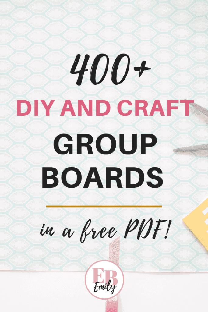 CLICK FOR 400+ PINTEREST GROUP BOARDS FOR MAKERS. If you're looking for Pinterest group boards to join, check out this list of over 400 Pinterest group boards for creative bloggers. DIY group boards, Home DIYS, DIY boards, crocheting group boards, knitting boards, sewing boards, craft group boards, creative boards, DIY pinterest boards, crafts for moms, seasonal craft boards and more. Click to download a free PDF of over 400 group boards, or re-pin for later #creativegroupboards #DIYgroupboards