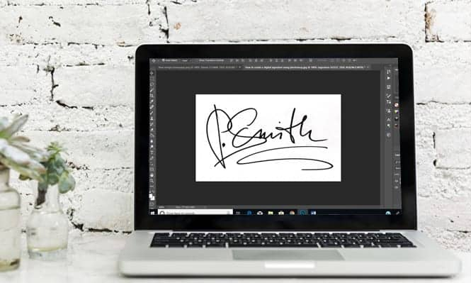 How to create a digital signature using photoshop screenshot