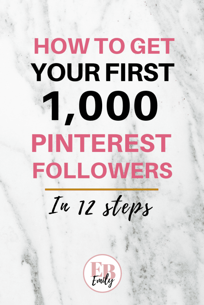 Want to know how to get your first 1,000 Pinterest followers? Click to read these easy steps to get 1,000 Pinterest followers today. Read this post to learn how to get more Pinterest followers and grow your online following, or re-pin for inspo later.