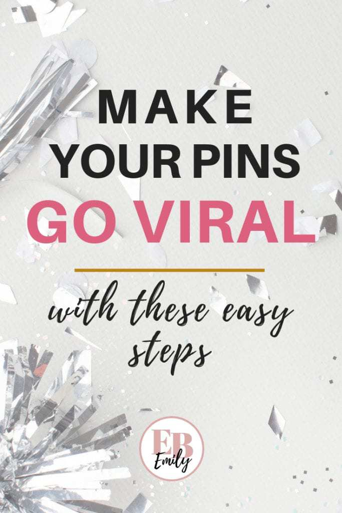 Want to make your pins go viral? Check out this post for easy tips to make your pins go viral on Pinterest. Get more Pinterest views, repins and followers by making your pins go viral. Click to read how, or repin for later.