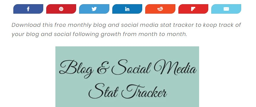 Need to keep track of your social media following? Check out this free blog and social media stat tracker by Crayons and Cravings, plus a list of 19 other freebies for bloggers, including this free social media stat tracker, or re-pin for inspo later #socialmediatips #socialmedia #blogging
