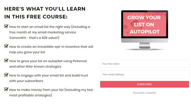 Need to grow your email list for your blog? Check out this amazing course by Dale from blogging her way. Grow Your List On Autopilot teaches you how to create an email list for your blog, and how to grow it quickly. Click to read more about how to get more subscribers and for 19 other free blogging courses and tools, or repin for inspo later #growyourlist #getmoresubscribers #blogging #emailmarketing