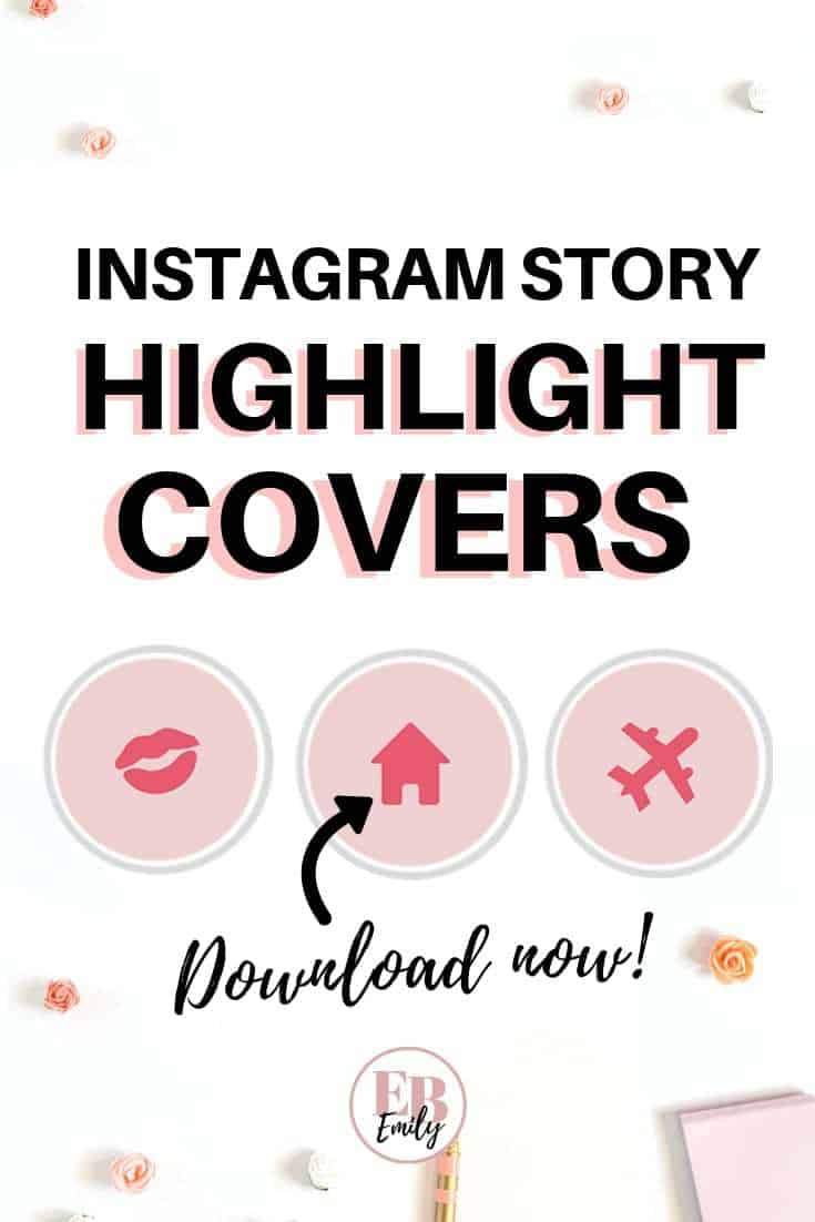 FREE INSTA HIGHLIGHT COVERS! Download these free instagram story highlight covers now, and learn how to make your own in this post. Click to download 8 beautiful feminine highlight covers today, or repin for inspo later #socialmedia #instatips #bloggingforbeginners