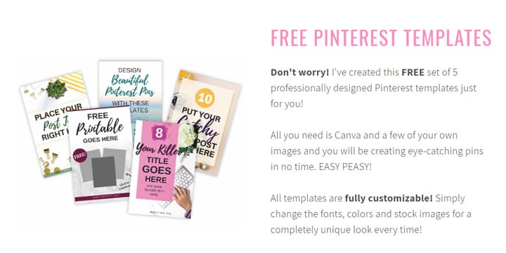 Need free Pinterest Graphic Templates? Check out these templates from Applecart Lane, plus 19 other free blogging resources and courses for bloggers, or re-pin for inspo later #pinteresttips #freetemplates