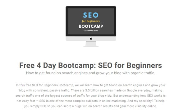 Want to grow your blog for free? Check out this SEO bootcamp by Leanne Wong, plus 19 other amazing free blogging courses and tools to help up your blogging game, or re-pin for inspo later #bloggingcourses #bloggingforbeginners #blogging