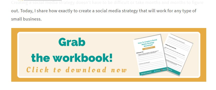 Need to get more followers or subscribers? Then click to check out this social media strategy workbook by Brittney Lynn, plus a list of 19 free blogging courses and tools, including a free social media strategy workbook, or re-pin for inspo later #socialmedia #getmorefollowers #blogging