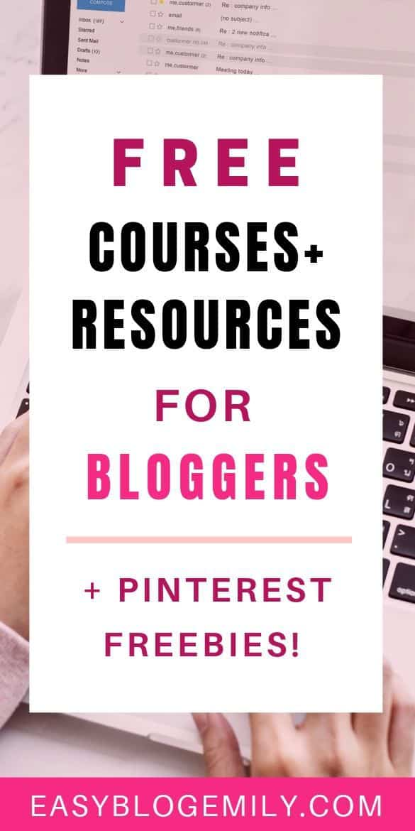 Free courses+resources for bloggers