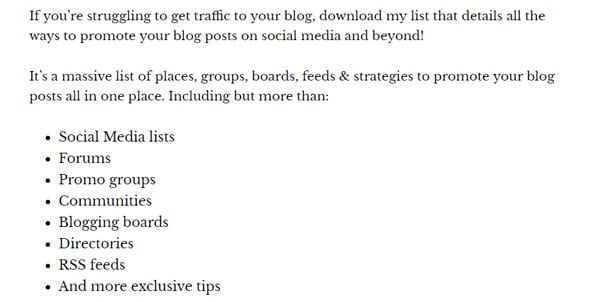 Want to grow your blog for free? Check out this free checklist of places to promote your blog posts by Emily from Social Buss Hive, plus 19 other amazing free blogging courses and tools to help up your blogging game, or re-pin for inspo later #bloggingcourses #bloggingforbeginners #blogging