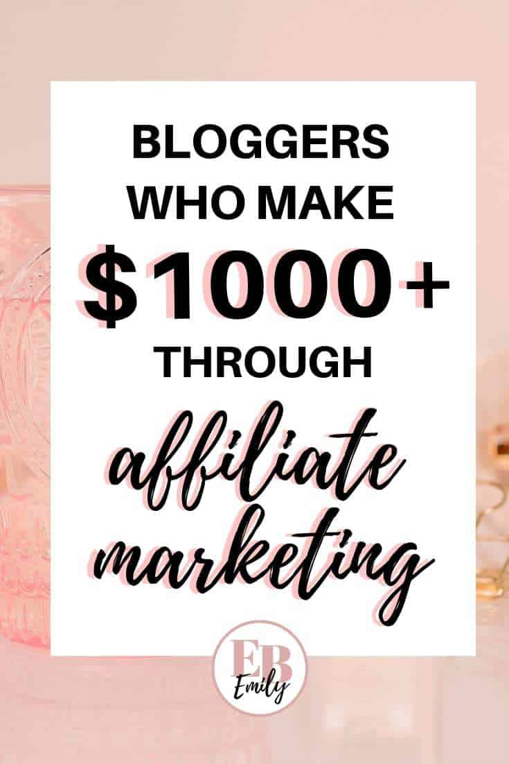 Bloggers who make $1000+ through affiliate marketing