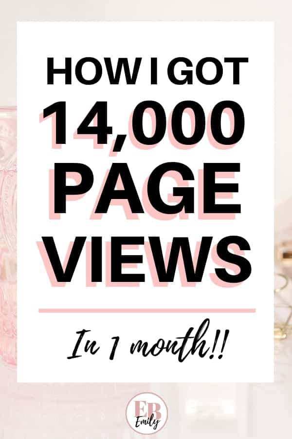 How I got 14,000 page views in 1 month
