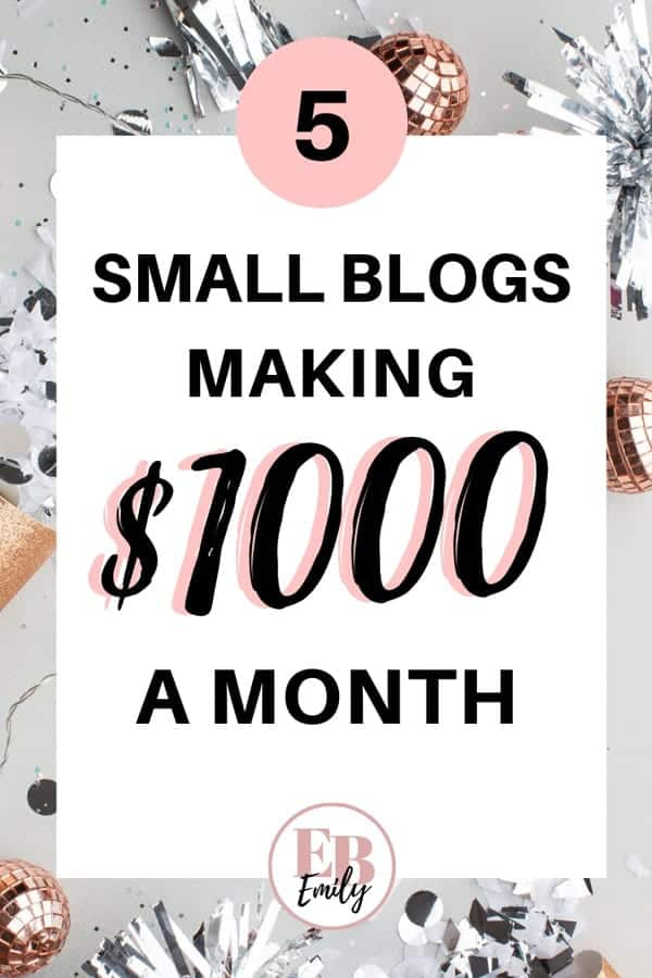 Small blogs making $1000 a month