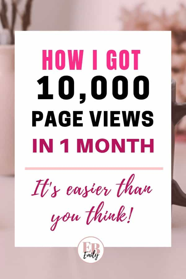 How I got 10,000 page views in 1 month